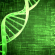 Royalty-Free Stock Photo: Green DNA Helix background squares