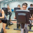 Spinning class in action — Stock Photo