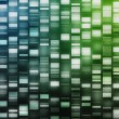 Blue and green DNA strands — Stock Photo