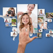 Stock Photo: Hand selecting pictures
