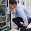 Stock Photo: Technicchecking server
