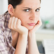 Upset womlooking at camera — Stock Photo #23049600