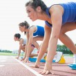 Stock Photo: Women ready to race