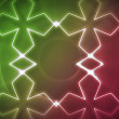 Stock Photo: Symmetrical pattern pink and green