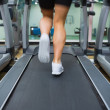 Running on a treadmill — Stok fotoğraf
