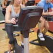 Stock Photo: Spinning class