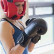 Woman boxing  — 图库照片