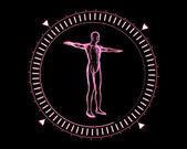 Pink Human form — Stock Photo