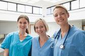 Three happy nurses — Stock Photo