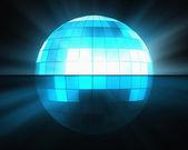 Blau disco-kugel — Stockfoto