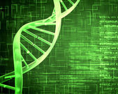 Green DNA Helix background squares — Stock Photo