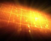 Orange ECG hearttbeat — Stock Photo