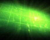 Zielony ekg serca — Zdjęcie stockowe