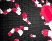 Pink pixelated pills — Stock Photo