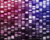 Pink and purple DNA strands — Stock Photo