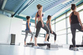 Four women at aerobics — Foto de Stock