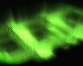 Abstract luminous green squares — Stock Photo