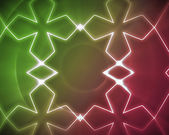 Symmetrical pattern pink and green — Stock Photo