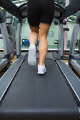 Running on a treadmill — Stock Photo