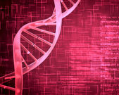 Pink DNA Helix background squares — Stock Photo