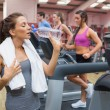 Stock Photo: Womthirsty in gym