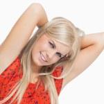 Cute blonde in dress — Stock Photo #23051258