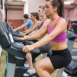 Group on exercise bicycles — Stock Photo #23051458