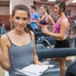 Gym Instructor Ergebnis Stoppuhr — Stockfoto