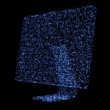 Blue shimmering computer screen — Foto Stock