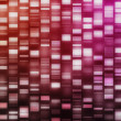 Red and pink DNA strands - Stock Photo