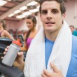 Man resting after exercise — Stock Photo