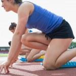 ženy začínají běžet — Stock fotografie