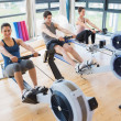 Stock Photo: At row machine