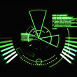 Abstract green radar — Stock Photo
