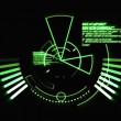 Stock Photo: Abstract green radar