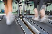 Dos en cintas de correr — Foto de Stock