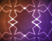 Symmetrical pattern orange and purple — Stock Photo