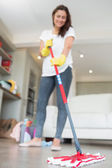 Mopping the floor — Stock Photo