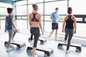Treinador dando aula aeróbica — Foto Stock