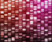 Red and pink DNA strands — Stock Photo