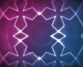 Symmetrical pattern blue and pink — Stock Photo