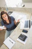 Woman feeling financial pressure — Stock Photo