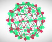Rode en groene cellen verbinding — Stockfoto