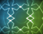 Symmetrical pattern blue and green — Stock Photo