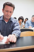 Class writing and listening — Stock Photo