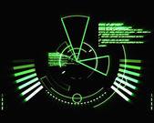 Abstrakt grün radar — Stockfoto