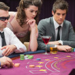 Around the poker table — Stock Photo