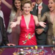 Woman winning at roulette — Stock Photo