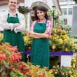 Garden center workers — Stock Photo