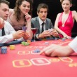 Playing exciting game of poker — Stock Photo #23088296